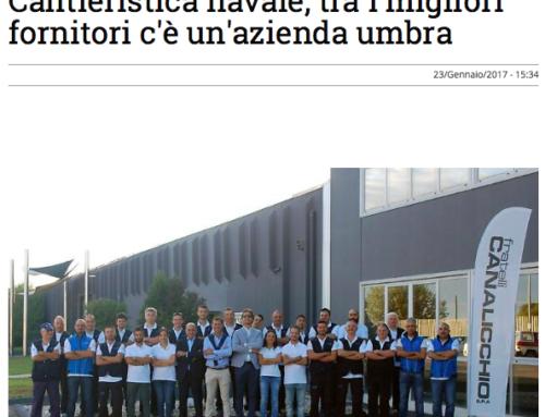 Corriere dell' Umbria – Cantieristica navale, tra i migliori fornitori c'è un'azienda umbra