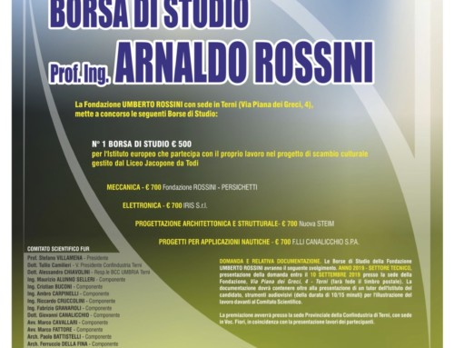 Borsa di Studio – Prof. Ing. ARNALDO ROSSINI