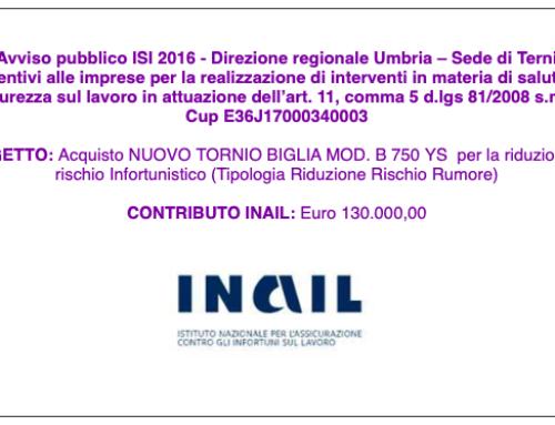 """""""Avviso pubblico ISI 2016 – Direzione regionale Umbria – Sede di Terni"""""""